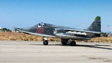 A Russian Su-25 ground attack aircraft like the one that was shot down.