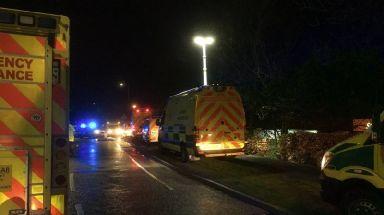 Six ambulances were sent to the scene