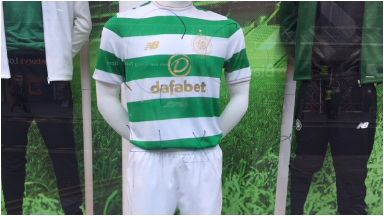 'Go Hame': Reference to banned Famine Song on Celtic club shop.