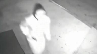 The suspect can be seen here running away from a shooting.