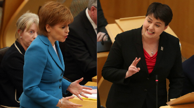 FMQs: Sturgeon took questions from MSPs on Thursday.