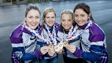 Vicki Adams, Lauren Gray, Anna Sloan and Eve Muirhead are going for gold once more.