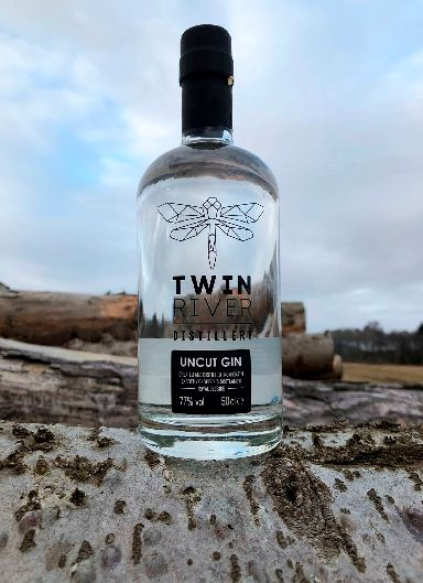 World's strongest gin: Twin River Distillery's Naked Gin 'Uncut' edition.