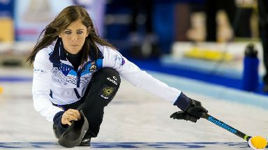 Eve Muirhead captains the women's curling team at her third Games.