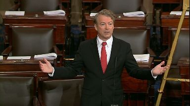 Rand Paul is protesting the return of trillion-dollar deficits.