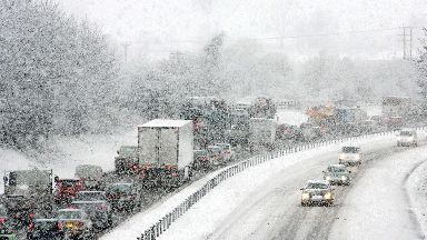 Snow: Delays on roads expected.