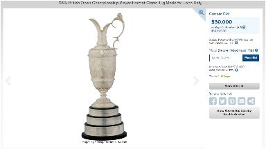 Golf: John Daly's replica Claret Jug