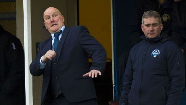 Jim Duffy watched his side beat Dumbarton 2-0.