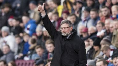 Hearts boss Craig Levein watched his side book their place in the quarter finals of the cup.