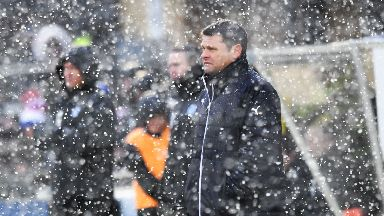 Rangers boss Graeme Murty watched his side win 6-1 in the Scottish Cup.