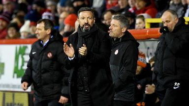 Aberdeen boss Derek McInnes watched his side defeat Dundee United to progress in the Scottish Cup.