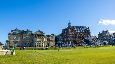 Historic: The Old Course first hosted the Open in 1873.