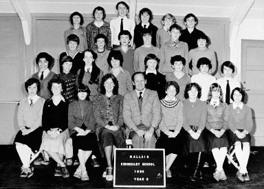 The class of 1980: Donald was 13 when the picture was taken at Mallaig Secondary School.