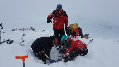 Skier buried up to his neck on Glen Coe Friday, February 16 2018