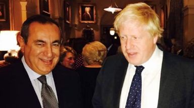 Connection: Photograph emerged of Prof Mifsud with Boris Johnson.