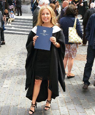 The Queen Margaret University graduate says she became interested in entrepreneurship at university.