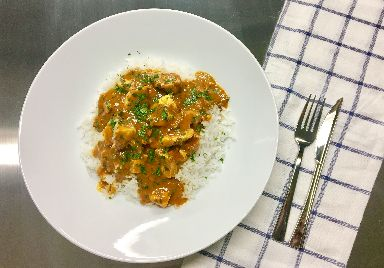 Chicken masala curry is one of the meals Lauren enjoys being able to eat again.