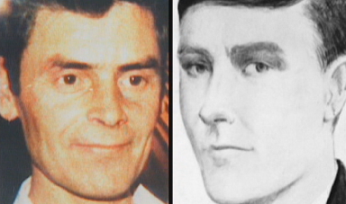 Bible John: One theory is that he is convicted killer Peter Tobin, left.