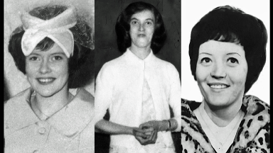 Victims: Patricia Docker, Jemima McDonald and Helen Puttock.