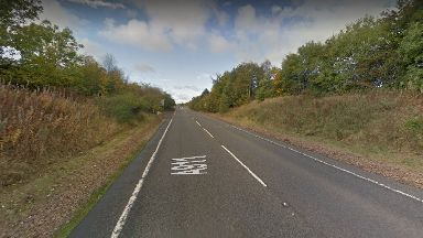 Road death: The man was on the A911 when he was hit.
