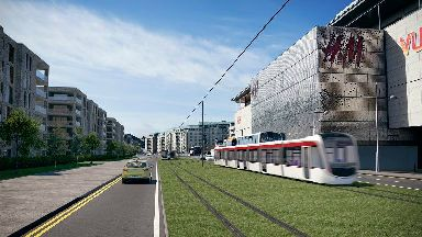 Transport: An artists impression of what the new trams will look like.