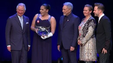 Sir Tom Jones and Olly Murs were among the stars at the Prince's Trust Awards at the London Palladium