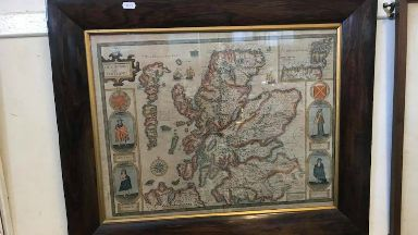 Damage: Map of Scotland dating back 400 years lost in fire.