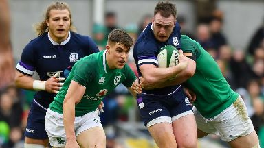 Defeat: Scotland fell to crushing defeat in Dublin