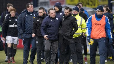 Angry: McCann was involved in a full-time clash.