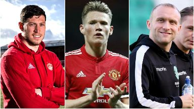 Scott McKenna (left), Scott McTomina (centre) and Dylan McGeouch (right) have earned their first Scotland senior call-ups.