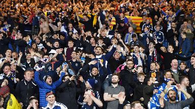 Friendly: Scotland fans will welcome Belgium.