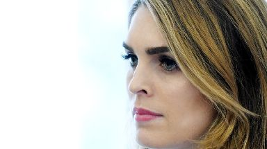 The former White House Communications Director, Hope Hicks
