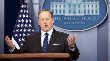 The former White House press secretary, Sean Spicer