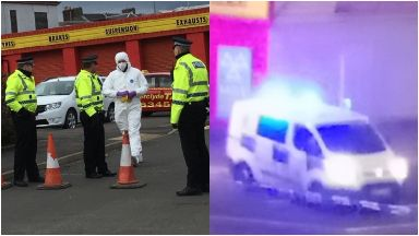 Greenock: Forensic officers called.