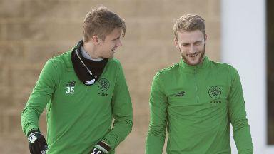 Back: Kris Ajer (left) returns for Celtic, while Scott Bain is in goals for the semi-final.