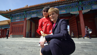 The First Minister during a visit to China.