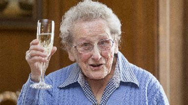 Party: Doris Keir has volunteered for 35 years.