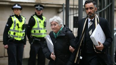 Edinburgh: Ponsati and her lawyer Aamer Anwar outside court ahead of previous hearing.