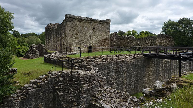 Craignethan Castle: Site is a Historic Scotland property.