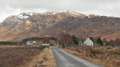 Kinlochewe: Wester Ross village is around 50 miles west of Inverness.