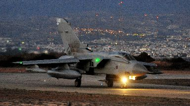 Air strikes: RAF Tornado in Cyprus ahead of attacks.