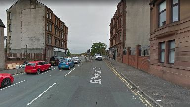 Injured: The man was found on Bisland Drive near Maryhill Road.