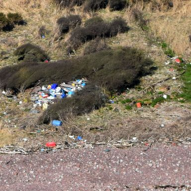 Archie says it is shocking to see the amount of plastics landing up in Scotland.