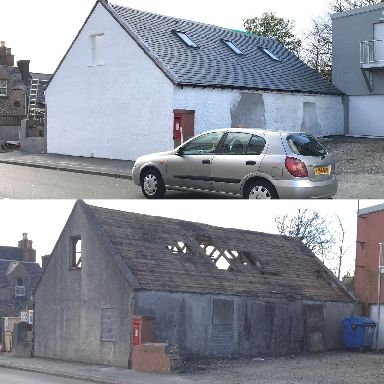 Before and after: The house has been transformed.