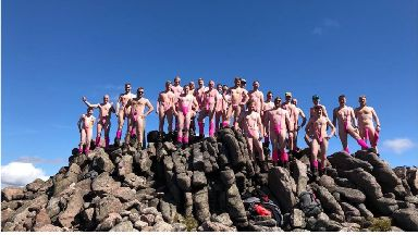 Charity: The men raised money for cancer research.