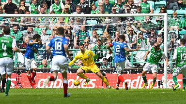 Thriller: Hibs and Rangers served up a treat.