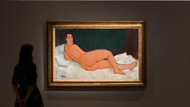 Nu Couche (Sur Le Cote Gauche), a Modigliani nude