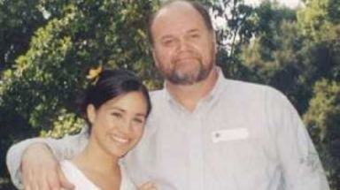 A young Meghan Markle with her father, Tom, who is currently  undergoing heart surgery.