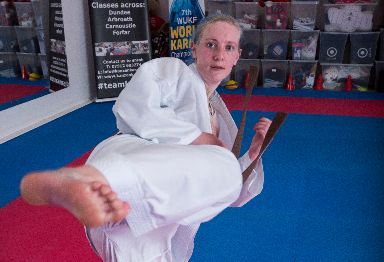 Kelly Soutar: Kicked one man between the legs.