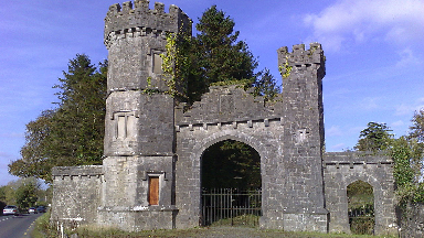 Knockdrin Castle: Entrance to £12m estate in Ireland.